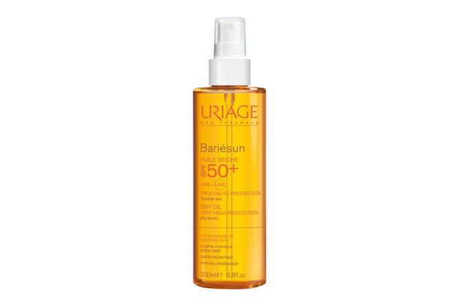 Солнцезащитное сухое масло для тела и волос Bariesun SPF 50+, Uriage