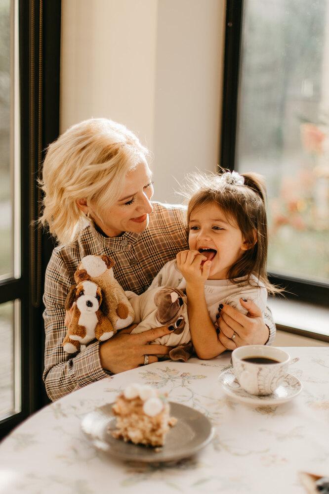 Татьяна Волосожар с дочерью Анжеликой
