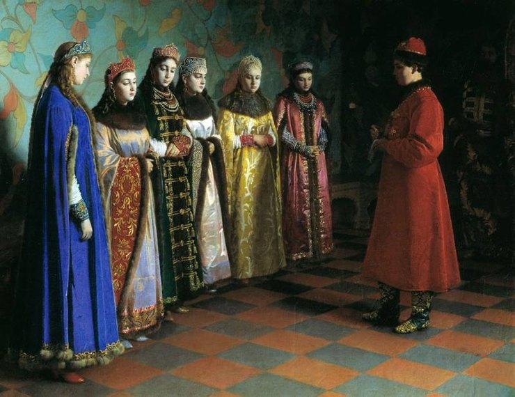 Григорий Седов. «Выбор невесты царём Алексеем Михайловичем», 1882