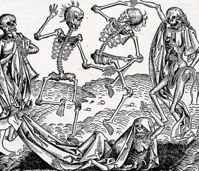 рисунок времен Средневековья
