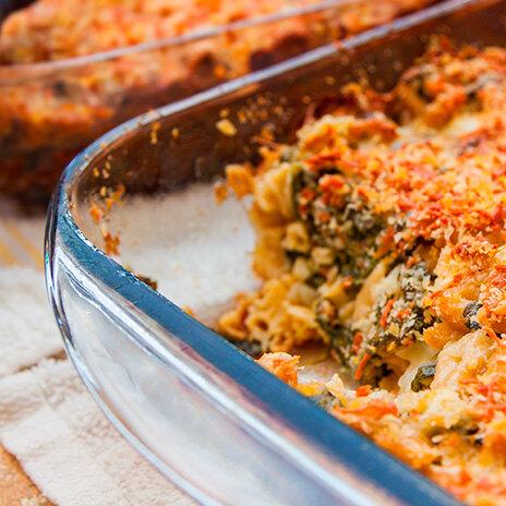 Рецепт запеканки с морковью и шпинатом