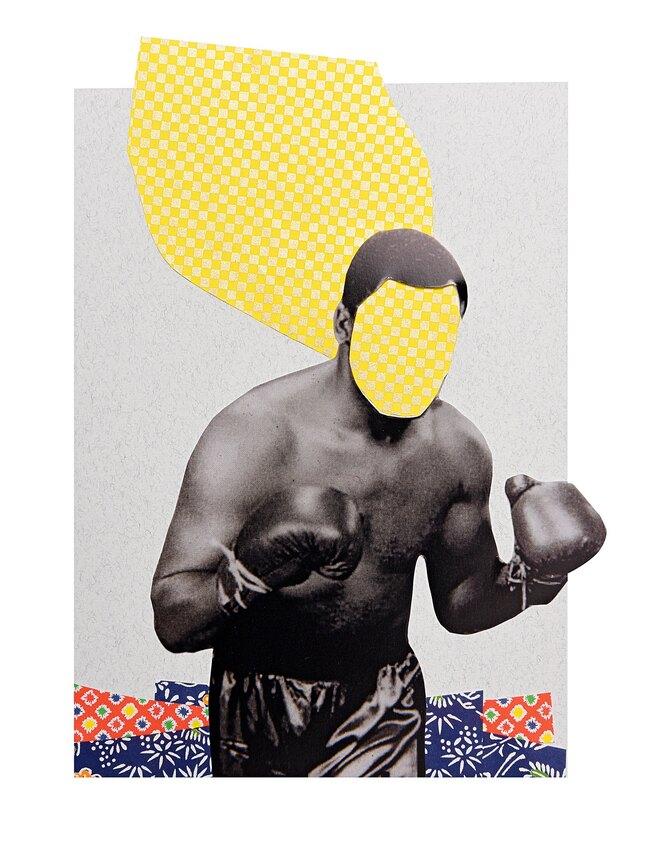 мужчина, боксер, абстракция