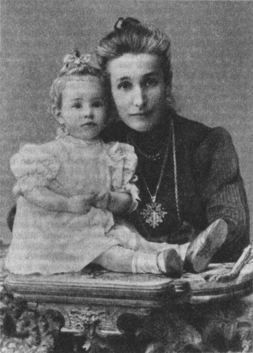 Е. А. Андреева-Бальмонт с дочерью Ниной