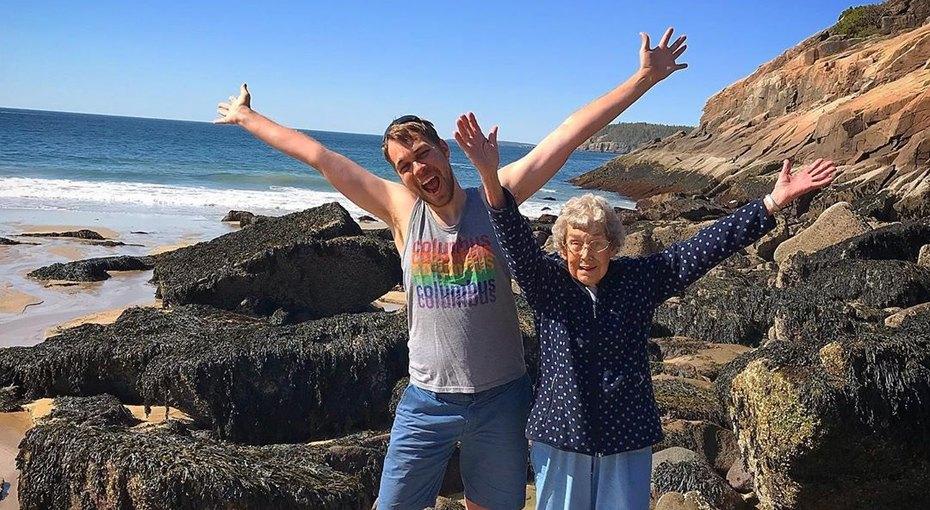 Бабушка никогда невидела ни океана, ни гор - ивнук решил это исправить