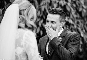 Первый взгляд. 19 фотографий момента, когда жених и невеста впервые видят друг друга
