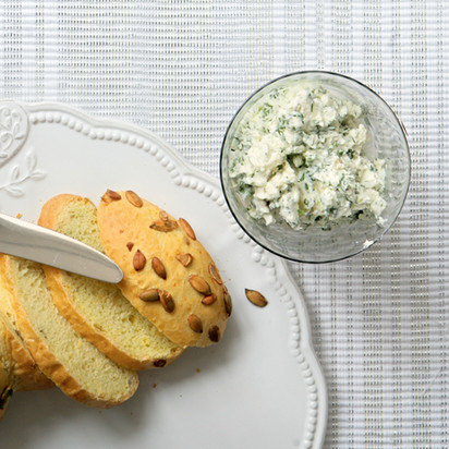 Сырная закуска с зеленью