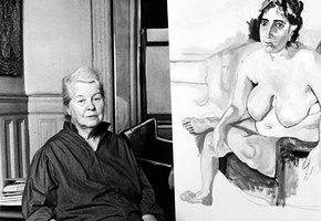 Элис Нил: как нарисовать портрет почти весь из пенисов, но прославиться совсем не этим
