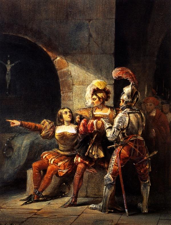 Неизвестный художник. «Заключение Жанны д'Арк под стражу». 1820-1830