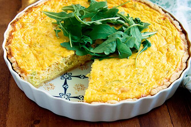 Пирог с кабачками и козьим сыром