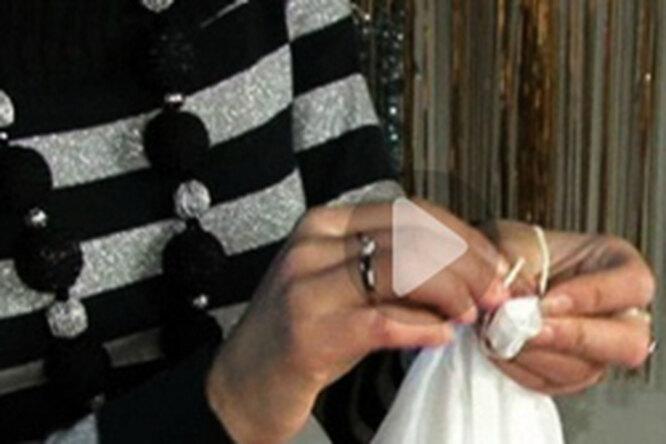 Красим платок: техника узелкового батика