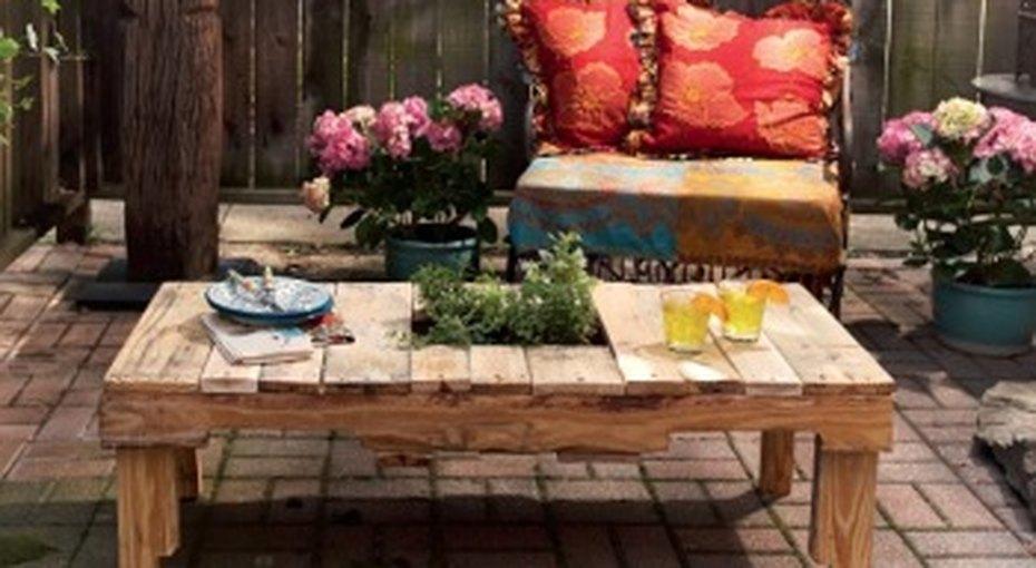 Садовый столик своими руками