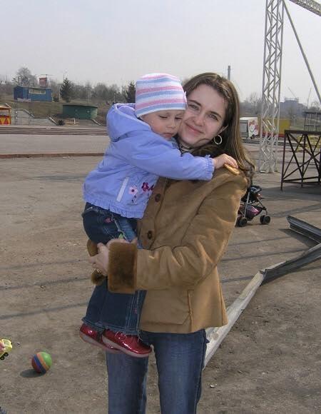 Александра Марова сприемной дочерью, Новосибирск, 2006 г.