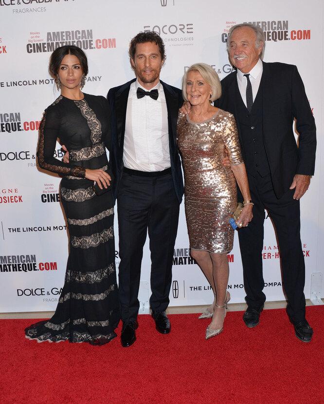 Мэттью МакКонахи с родителями