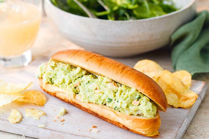 Сэндвич с крабовым салатом
