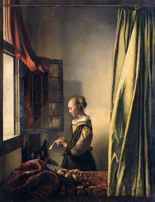 Ян Вермеер, «Девушка списьмом уокна»