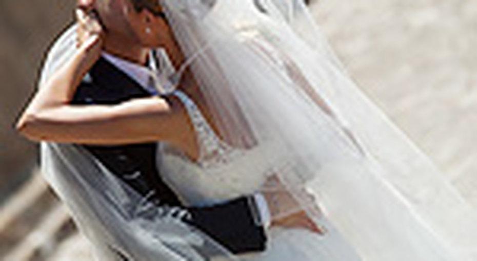 Невеста выбрала уникальный наряд