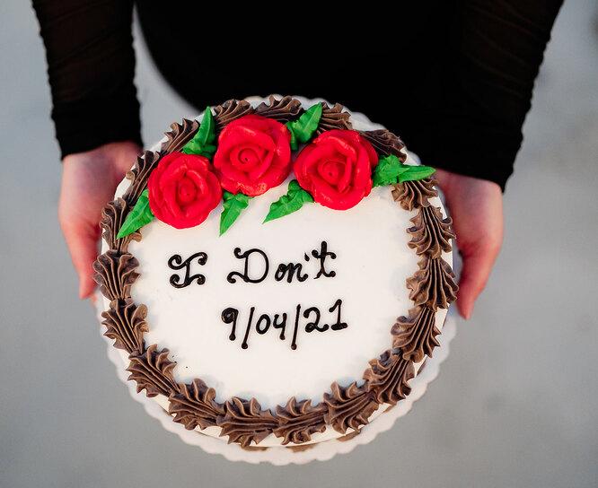 торт на несвадьбу