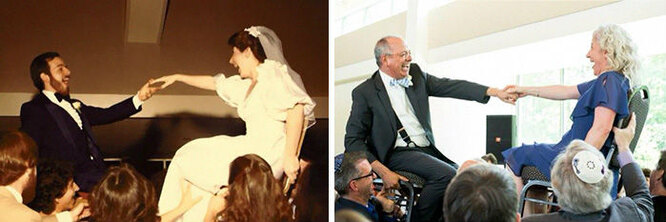 на своей свадьбе и на свадьбе дочери