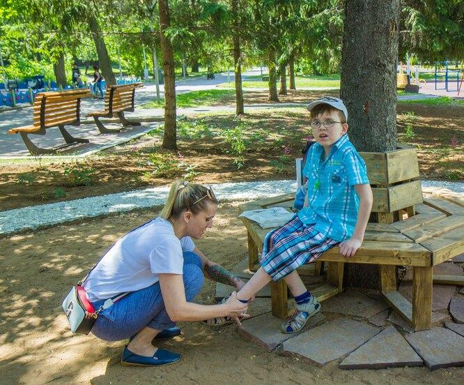 Тактильный мини-парк в Уфе