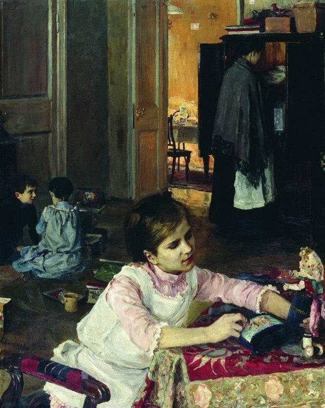 В детской, 1892