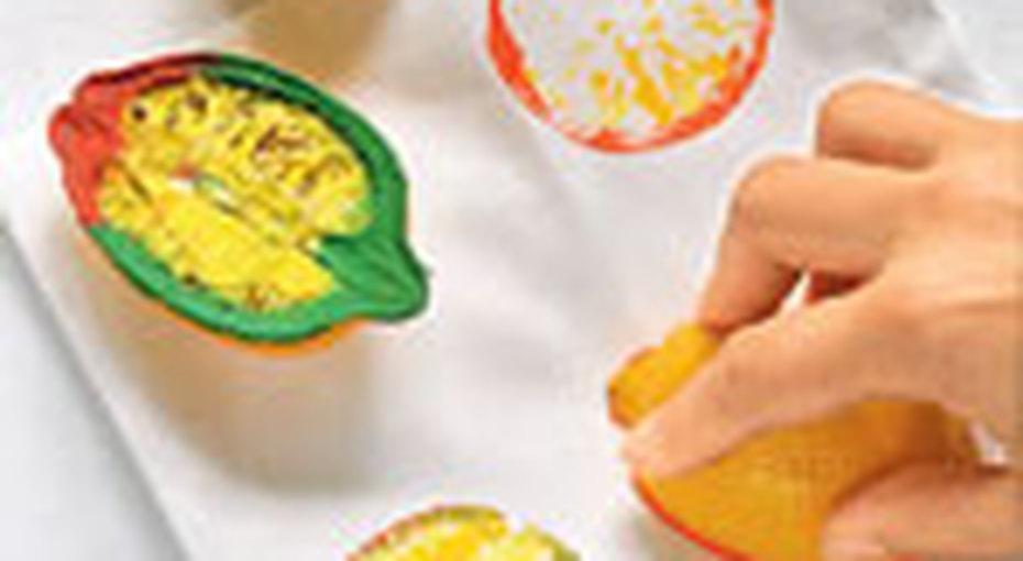 Мастер-класс «печать фруктами»