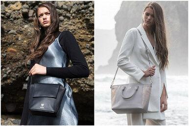 Эти сумки выглядят как кожаные, но вы недогадаетесь изчего они!