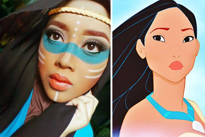 Моя мама — принцесса. Нет, Русалочка. Нет, Покахонтас. Сказочный макияж отматери двоих детей
