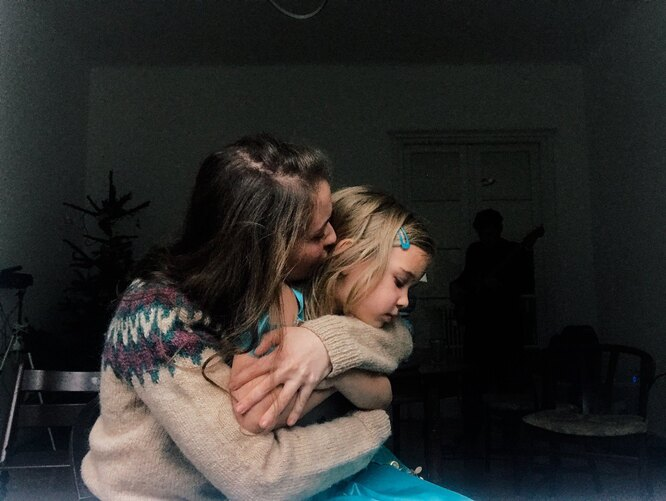 Настя Чуковская с дочкой Евой