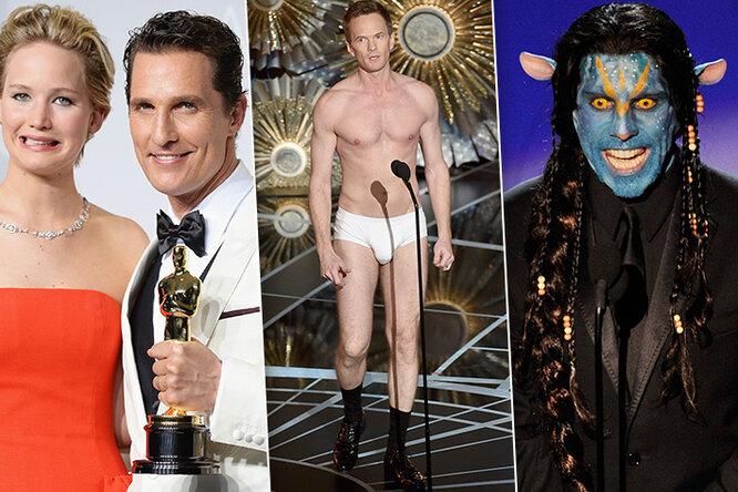 Падения итрусы: самые странные моменты нацеремонии вручения «Оскара»