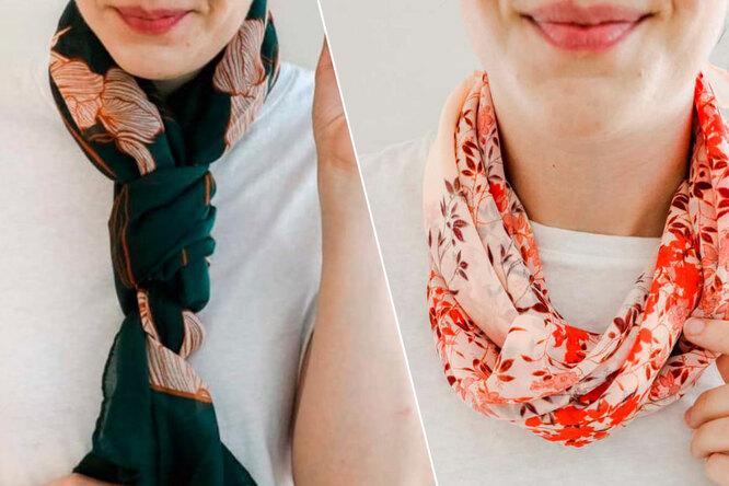 Как красиво завязать платок ишарф нашее: 6 интересных способов