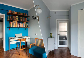 Интерьер квартиры: современный минимализм и мебель из прошлого