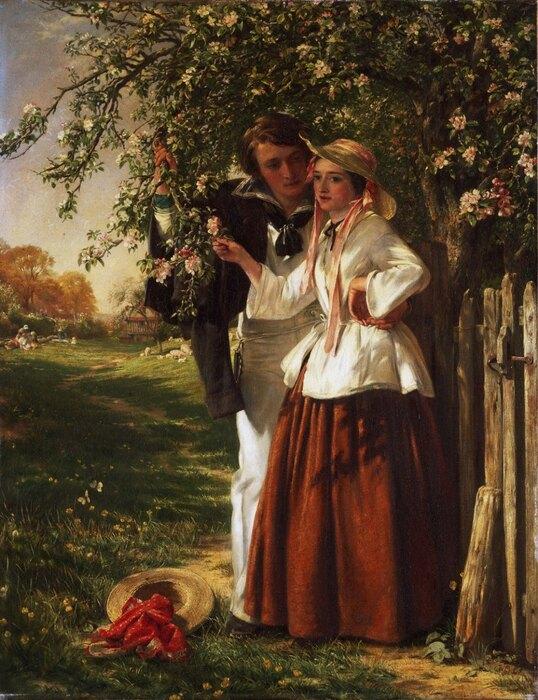 Джон Колкотт Хорсли «Влюблённые подцветущим деревом»