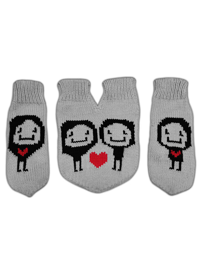 Варежки для влюбленных, Knitto, 1057 руб