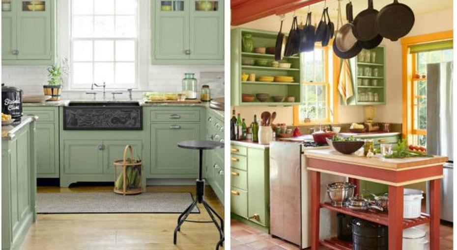 Зеленая кухня? Это красиво