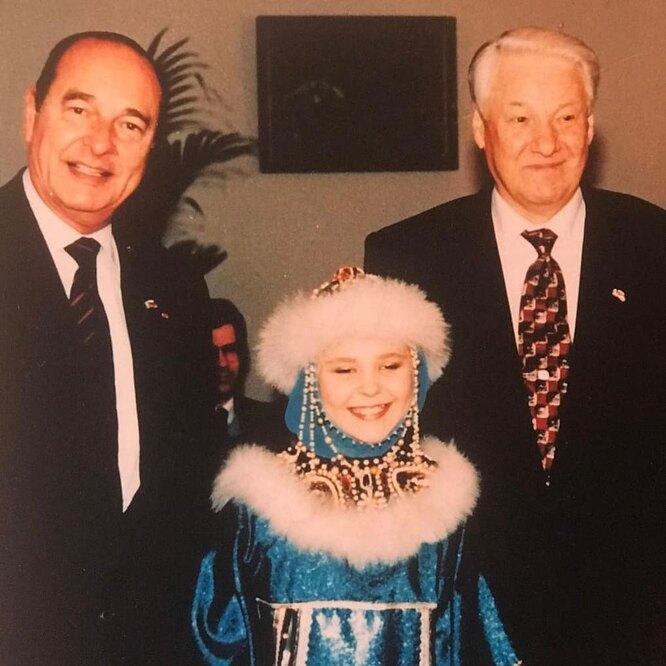 Пелагея, Борис Ельцин, Жак Ширак