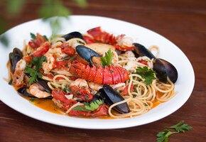 Рецепты пасты с морепродуктами