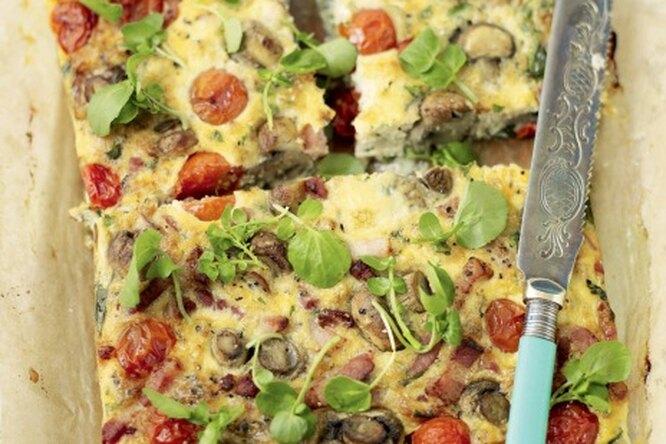 Фритата: омлет по-итальянски с беконом