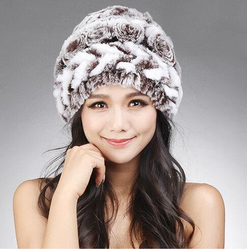 Зимняя шапка из вязаного меха