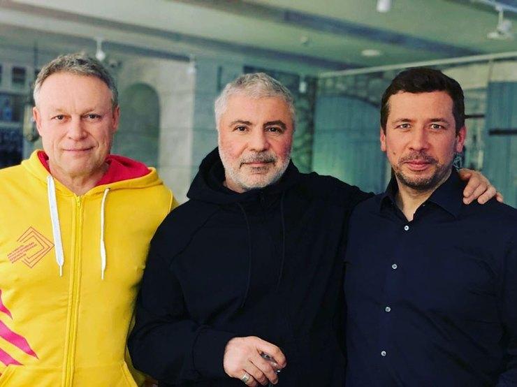 Сергей Жигунов, Сосо Павлиашвили иАндрей Мерзликин