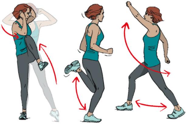 Упражнения для зарядки: комплекс утренней физзарядки для начинающих дома, взрослым и детям на физкультуре