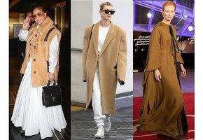 Пальто, как у Джей Ло: 5 модных образов с очень объемными вещами
