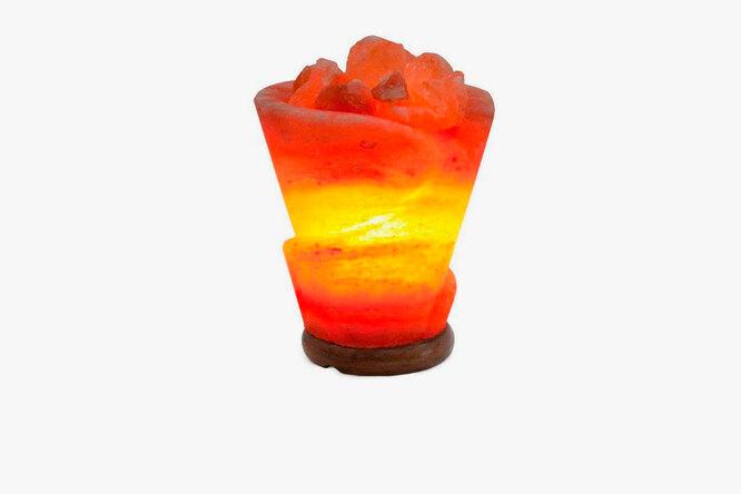 Евродом, Светильник декоративный STAY GOLD соляная лампа роза, 3 050 руб.