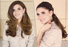 Объемный хвост с двойной косой: мастер-класс блогера Ирины Акопян