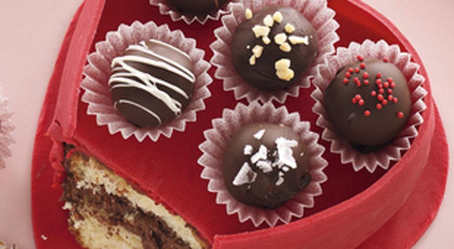 Собираем пирожные ко Дню Святого Валентина