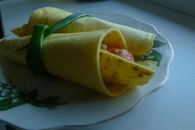 Энчилада с овощами и куриной грудкой