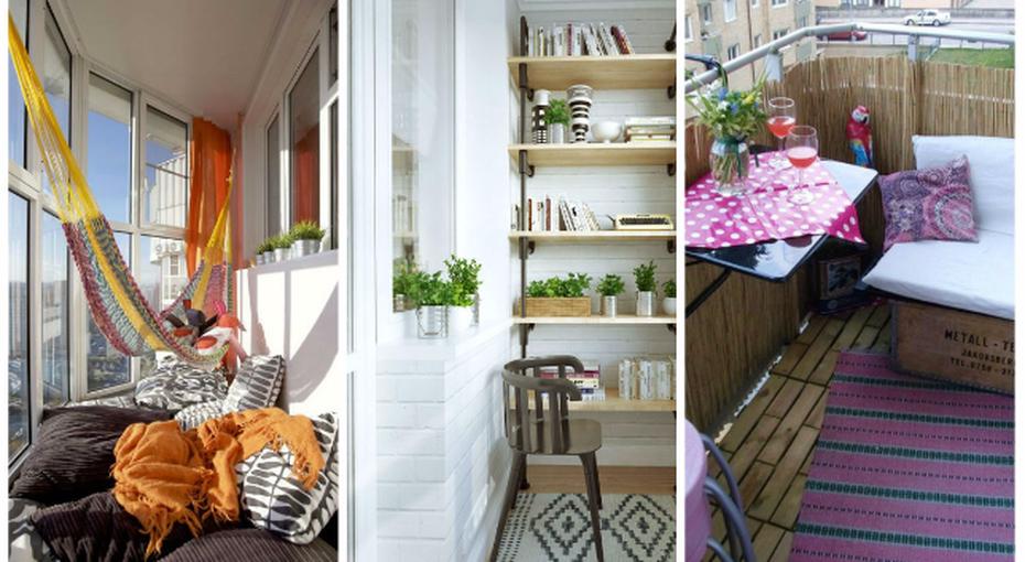 Уютный балкон. 21 потрясающая идея необычной отделки