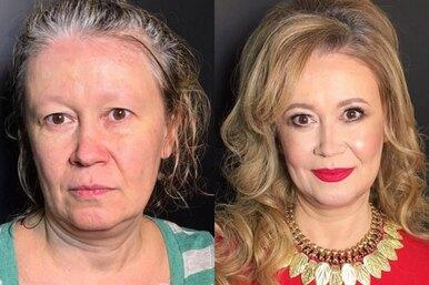 До ипосле: удивительные преображения спомощью макияжа