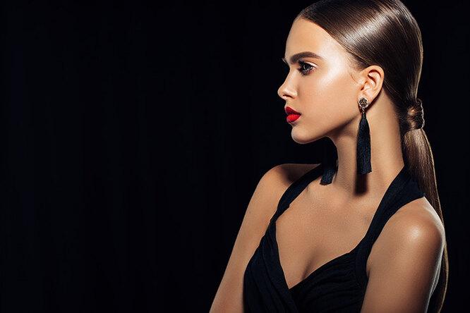 модель с макияжем