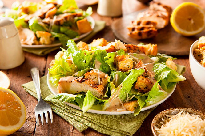 Рецепт салата горячий «Цезарь»