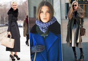 Подборка модных образов для зимы. Пальто с меховым воротником снова входит в топ.